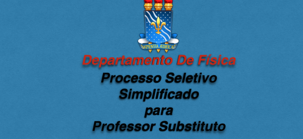 Processo Seletivo para Professor Substituto
