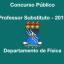 Processo Seletivo para Professor Substituto – 2019