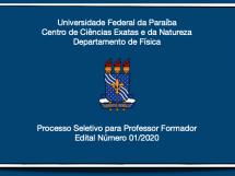 Processo Seletivo para Professor Formador